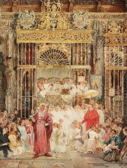 The Cardinal's Visit | Enrique Serra y Auque | Oil Painting