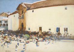 Outside the Bullring | Arthur Melville | Oil Painting