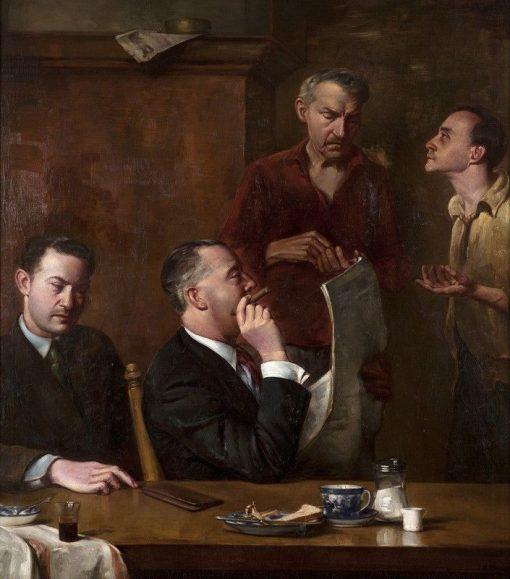 Four Men in a Restaurant | Arthur Melville | Oil Painting