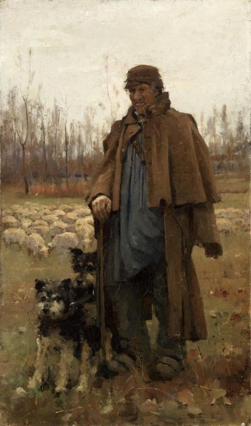A Normandy Shepherd | Arthur Melville | Oil Painting