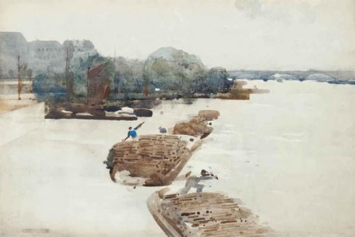 Barges on the Seine | Arthur Melville | Oil Painting