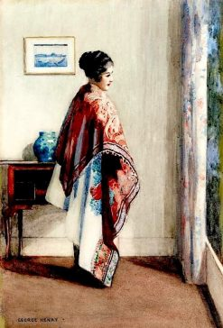 A Girl at at Window | George Henry | Oil Painting