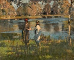 At the Water's Edge | George Henry | Oil Painting