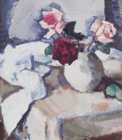 Dark Roses in Pot | Samuel John Peploe | Oil Painting