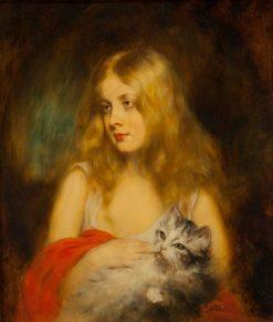 A Little Blonde Lady | René Avigdor | Oil Painting
