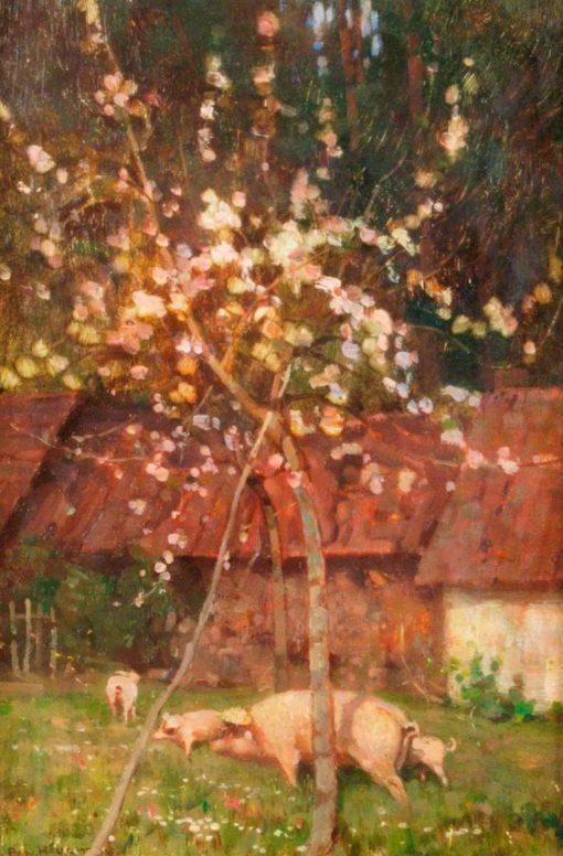 Orchard Sketch | Benjamin Haughton | Oil Painting