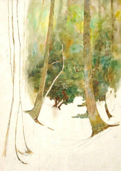 Path through the Woods   Benjamin Haughton   Oil Painting