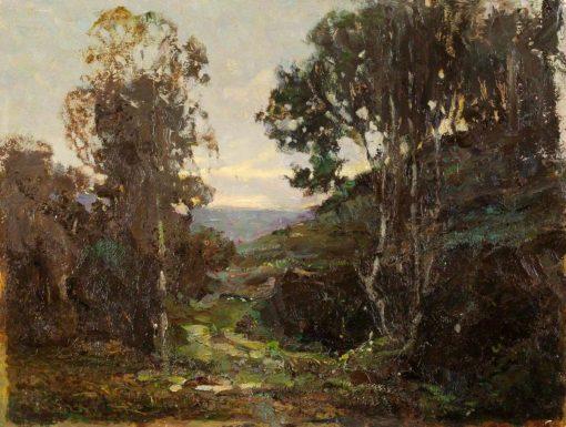 Path through Moorland   Benjamin Haughton   Oil Painting