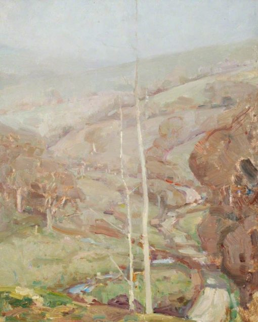 Saplings on Hillside | Benjamin Haughton | Oil Painting