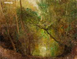 Sketch for 'Woodland Waters' | Benjamin Haughton | Oil Painting