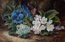 Still Life of Pansies and Flowers | Oliver Clare | Oil Painting