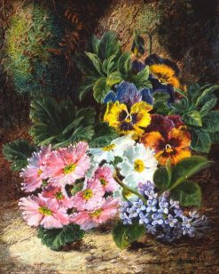 Pansies and Lilacs | Oliver Clare | Oil Painting