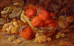Strawberry Basket with Whitecurrant | Vincent Clare | Oil Painting