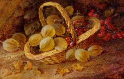 Gooseberries and Currant in a Basket | Vincent Clare | Oil Painting