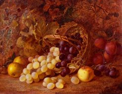 Still Life of Fruit and Basket | Vincent Clare | Oil Painting