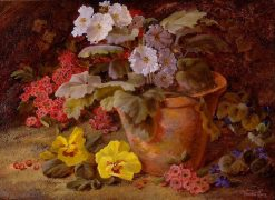 Still Life of Flowers in a Clay Pot | Vincent Clare | Oil Painting
