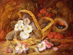 Basket of Flowers and Bird's Nest | Vincent Clare | Oil Painting