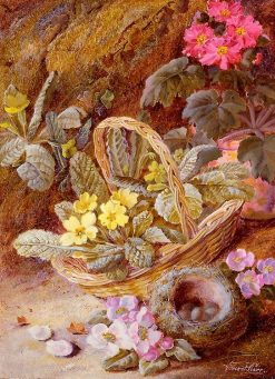 Still Life of Flowers and Bird's Nest | Vincent Clare | Oil Painting