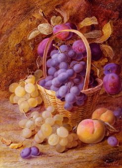 Fruit in a Basket | Vincent Clare | Oil Painting