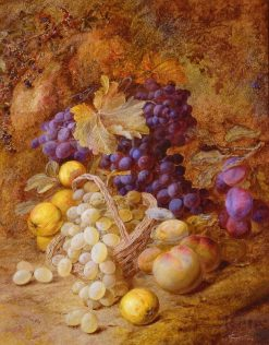 Grapes in a Basket | Vincent Clare | Oil Painting