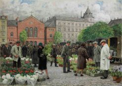 The Flower Market | Paul-Gustave Fischer | Oil Painting