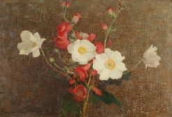 Sprig of Flowers with Anemones | Benjamin Haughton | Oil Painting