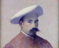 Self-Portrait in a White Beret | Achille Laugé | Oil Painting