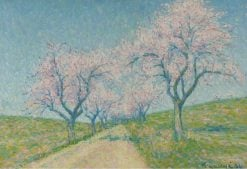 The Road Boarding by Almond Trees in Bloom | Achille Laugé | Oil Painting
