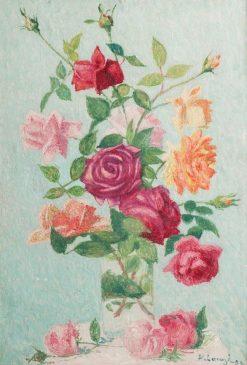 Bouquet of roses | Achille Laugé | Oil Painting