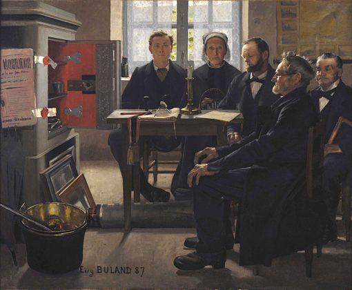 Les Héritiers   Jean-Eugène Buland   Oil Painting