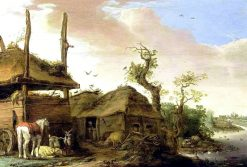 Farmhouse by the Water's Edge | Cornelis Saftleven | Oil Painting