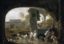 Huntsman Feeding His Dogs | Cornelis Saftleven | Oil Painting