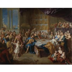 The feast of Dido and Aeneas (also known as An allegorical portrait of the family of the Duc and Duchesse du Maine) | François de Troy | Oil Painting