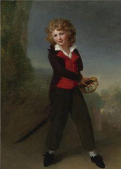 Portrait of the young Count Felix de Narbonne Pelet | Henri-Pierre Danloux | Oil Painting