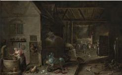 Interior of a Farmhouse | David Teniers (II | Oil Painting