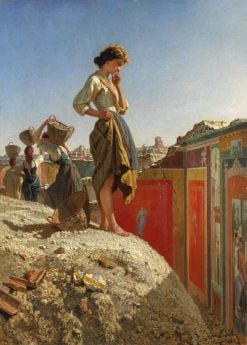 The Excavations of Pompeii | Filippo Palizzi | Oil Painting