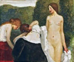 Three girls | Robert Anning Bell | Oil Painting
