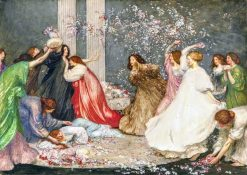 Battle of Flowers   Robert Anning Bell   Oil Painting