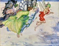 A flight of fairies | Robert Anning Bell | Oil Painting