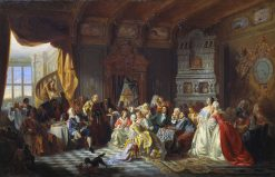 Assembly at the Court of Peter the Great | Stanislaus Poraj Chlebowski | Oil Painting