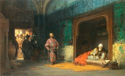 Sultan Bayezid I held captive by Timur | Stanislaus Poraj Chlebowski | Oil Painting