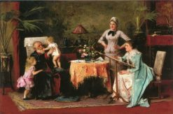 Grandfather's Name Day (also known as Nagyapó névnapja) | Mihály Munkácsy | Oil Painting