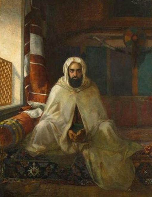 Portrait of Abd el-Kader | Stanislaus Poraj Chlebowski | Oil Painting