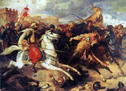Battle of Varna | Stanislaus Poraj Chlebowski | Oil Painting