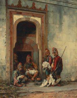 Bashi-Bazooks in a doorway | Stanislaus Poraj Chlebowski | Oil Painting