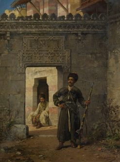 The Circassian guards | Stanislaus Poraj Chlebowski | Oil Painting