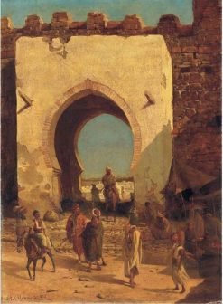 At the city gate | Stanislaus Poraj Chlebowski | Oil Painting