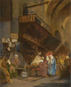 Souk in Constantinople | Stanislaus Poraj Chlebowski | Oil Painting
