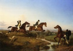 Hunting in the Neopolitan Countryside | Filippo Palizzi | Oil Painting