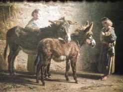Two Donkeys | Filippo Palizzi | Oil Painting